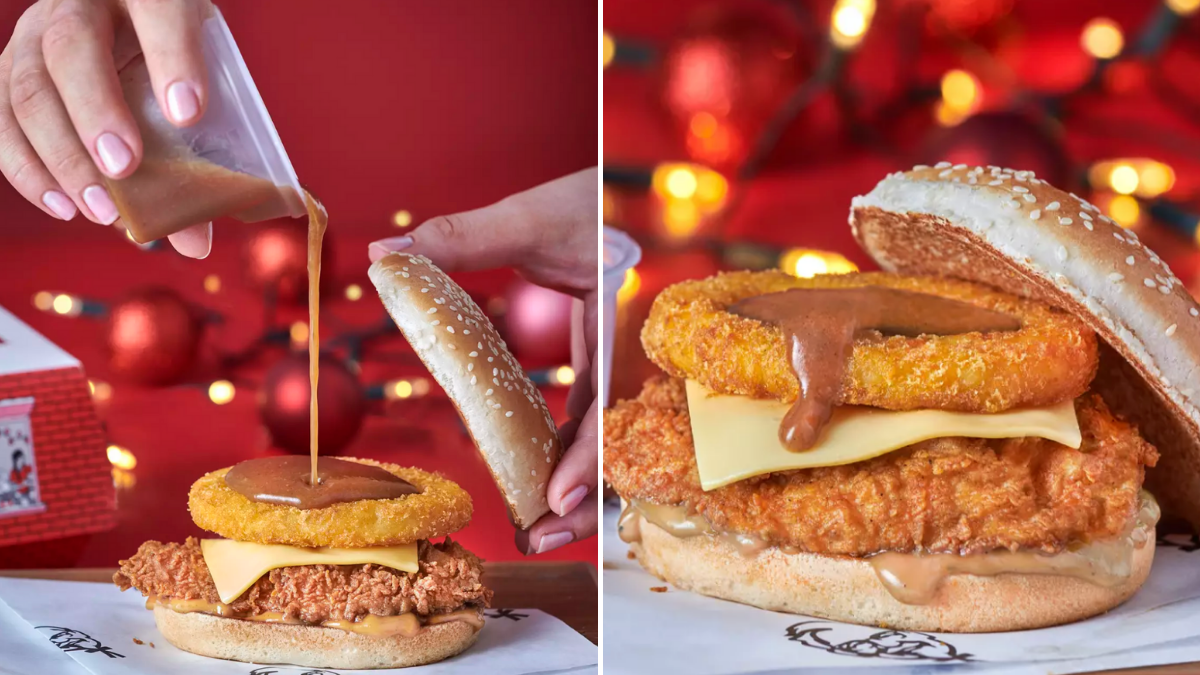 Kfc Launch New Chicken Burger Filled With Gravy And A Hashbrown Proper Manchester