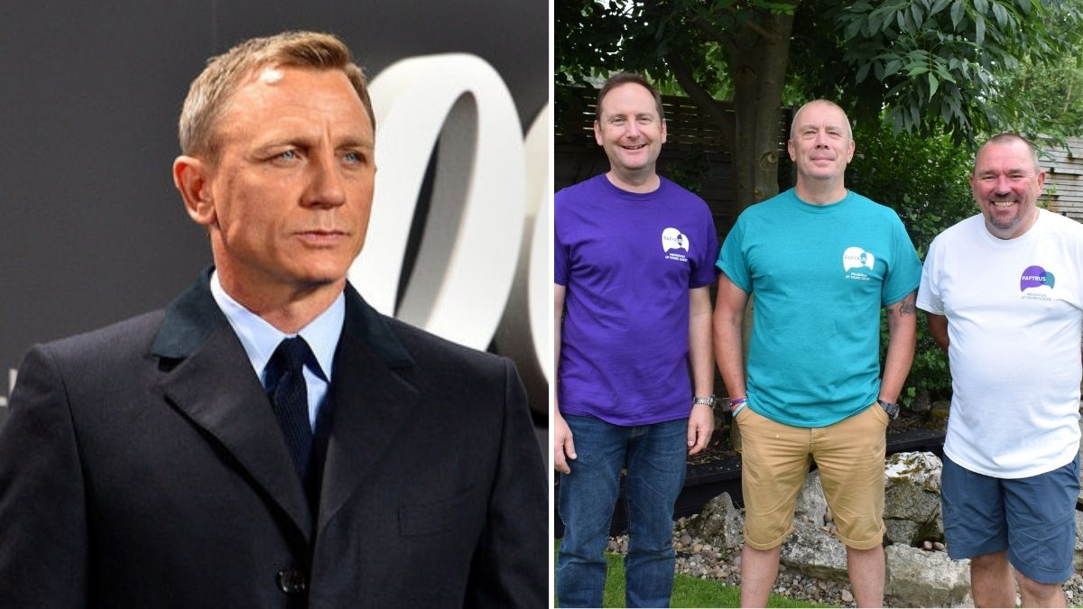 Daniel Craig donates £10K to three Northern dads who are fundraising for a suicide prevention charity